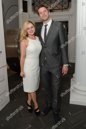 Stock Image of 'Summer in February' London Gala Screening After Party at the Halcyon Gallery Bond Street Mia Austen with Her Fiancee Nathaniel