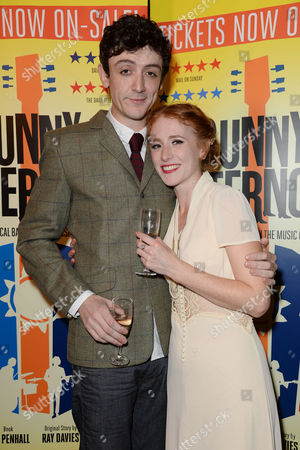 Stock Image of 'Sunny Afternoon' Press Night at the Harold Pinter Theatre and Afterparty at the Cafe De Paris John Dagleish and Lillie Flynn