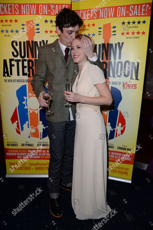 Stock Picture of 'Sunny Afternoon' Press Night at the Harold Pinter Theatre and Afterparty at the Cafe De Paris John Dagleish and Lillie Flynn