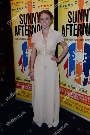 Stock Photo of 'Sunny Afternoon' Press Night at the Harold Pinter Theatre and Afterparty at the Cafe De Paris Lillie Flynn