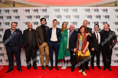 Stock Picture of 'Sunset Song' Uk Premiere During the Bfi London Film Festival at the Vue Leicester Square Ian Pirie Sol Papadopoulos Jack Greenlees Agyness Deyn Terence Davies Kevin Guthrie and Peter Mullan with Clare Stewart