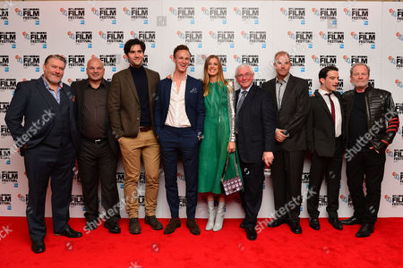 'Sunset Song' Uk Premiere During the Bfi London Film Festival at the Vue Leicester Square Ian Pirie Sol Papadopoulos Jack Greenlees Agyness Deyn Terence Davies Kevin Guthrie and Peter Mullan