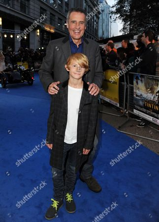 'The Adventures of Tintin the Secret of the Unicorn 3d' at the Odeon Westend Dermot Murnaghan