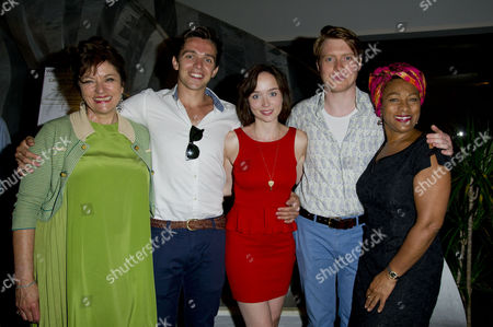 Stock Picture of 'The American Plan' Press Night at St James Theatre Victoria Diana Quick Luke Allen-gale Emily Taaffe Mark Edel-hunt and Dona Croll