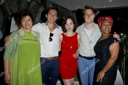 Stock Image of 'The American Plan' Press Night at St James Theatre Victoria Diana Quick Luke Allen-gale Emily Taaffe Mark Edel-hunt and Dona Croll