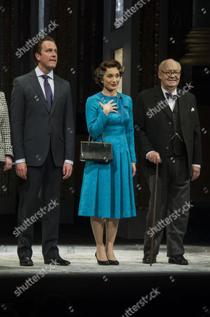 'The Audience' Press Night at the Apollo Theatre and Afterparty at Horseguards Hotel Curtain Call - Mark Dexter Kristin Scott Thomas and David Calder