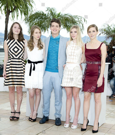 'The Bling Ring' Photocall at the Palais Des Festivals During the 66th Cannes Film Festival Katie Chang Taissa Fariga Israel Broussard Claire Julien and Emma Watson
