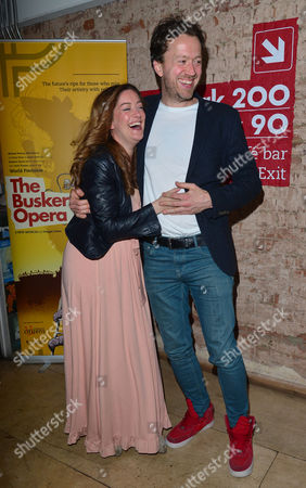 'The Buskers Opera' Press Night at the Finsbury Park Theatre Julie Atherton and Jez Bond