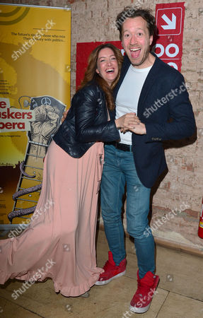 Stock Picture of 'The Buskers Opera' Press Night at the Finsbury Park Theatre Julie Atherton and Jez Bond