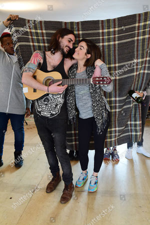 'The Buskers Opera' Rehearsals at the Park Theatre Lauren Samuels and George Maguire