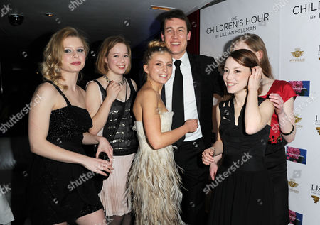 Stock Image of 'The Childrens Hour' Press Night at the Comedy Theatre and Afterparty at the Penthouse Leicester Square Isabella Brazier-jones Lisa Backwell Isabel Ellison Marama Corlett Eve Ponsonby and Tobias Menzies