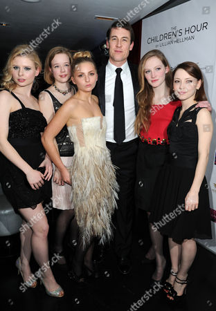 'The Childrens Hour' Press Night at the Comedy Theatre and Afterparty at the Penthouse Leicester Square Isabella Brazier-jones Lisa Backwell Isabel Ellison Marama Corlett Eve Ponsonby and Tobias Menzies