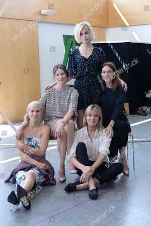 'The Colby Sisters of Pittsburgh Pennsylvania' Rehearsals at the Tricycle Theatre Charlotte Parry Patricia Potter and Alice Saunders Claire Forlani and Isabella Calthorpe