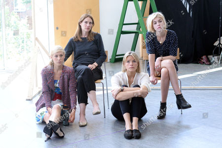 'The Colby Sisters of Pittsburgh Pennsylvania' Rehearsals at the Tricycle Theatre Charlotte Parry Claire Forlani Isabella Calthorpe and Alice Saunders