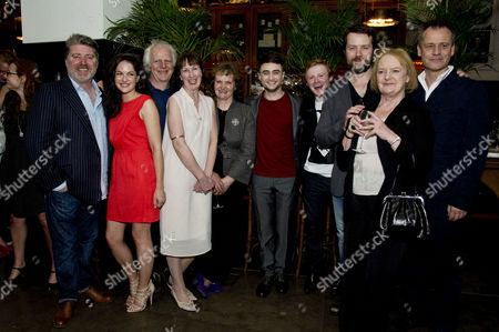 'The Cripple of Inishmaan' Press Night After Party at the National Portrait Gallery Cafe Pat Shortt Sarah Greene Gary Lilburn Ingrid Craigie Gillian Hanna Daniel Radcliffe Conor Macneill Padraic Delaney and June Watson with Michael Grandage