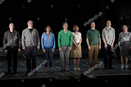 'The Curious Incident of the Dog in the Night Time' Press Night Curtain Call at the Apollo Theatre Nick Sidi Howard Ward Holly Aird Luke Treadaway Niamh Cusack Sean Gleeson Matthew Barker