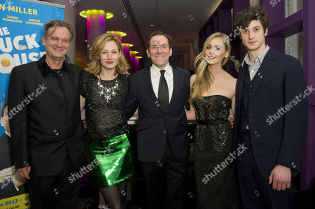 'The Duck House' Press Night Afterparty at the Trafalgar Hotel Cast - Simon Shepherd Nancy Carroll Ben Miller Diana Vickers and James Musgrave
