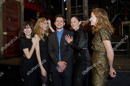 'The El Train' Press Night at Hoxton Hall Directors Sam Yates and Ruth Wilson with the Producers (found Productions) - Lucy Chaloner Francesca Zampi and Alice Russell