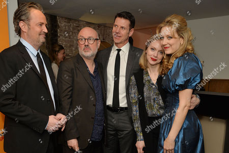 'The End of Longing' Press Night Afterparty at the Playhouse Theatre Matthew Perry Director Lindsay Posner Lloyd Owen Christina Cole and Jennifer Mudge