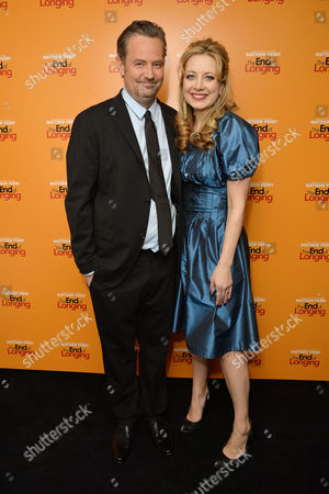 Stock Image of 'The End of Longing' Press Night Afterparty at the Playhouse Theatre Matthew Perry and Jennifer Mudge