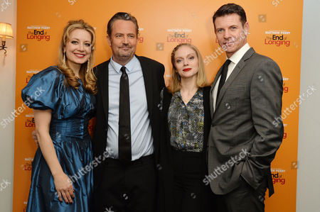 Stock Picture of 'The End of Longing' Press Night Afterparty at the Playhouse Theatre Jennifer Mudge Matthew Perry Christina Cole and Lloyd Owen