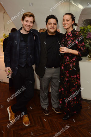 'The End of Longing' Press Night Afterparty at the Playhouse Theatre Ricky Wilson with His Girlfriend Grace Zito and Nathan Amzi