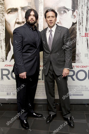 'The Frozen Ground' Premiere at the Vue Westend Nicolas Cage with His Son Weston Coppola Cage