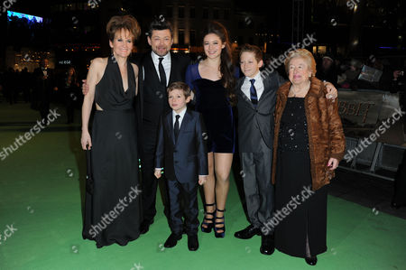 'The Hobbit an Unexpected Journey' Premiere at the Odeon Leicester Square Andy Serkis with His Wife Lorraine Ashbourne and Their Children Ruby Sonny and Louis