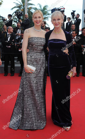 'The Homesman' Red Carpet at the Palais Des Festivals During the 67th Cannes Film Festival Kelly Rutherford and Caroline Lagerfelt