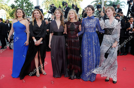 'The Homesman' Red Carpet at the Palais Des Festivals During the 67th Cannes Film Festival Carole Franck Isabelle Carre Josephine Japy Melanie Laurent Lou De Laage and Claire Keim