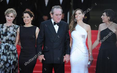 'The Homesman' Red Carpet at the Palais Des Festivals During the 67th Cannes Film Festival Sonja Richter Dawn Laurel Jones Tommy Lee Jones Hilary Swank and Victoria Jones