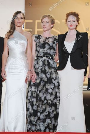 'The Homesman' Red Carpet Outs at the Palais Des Festivals During the 67th Cannes Film Festival Hilary Swank Sonja Richter and Miranda Otto