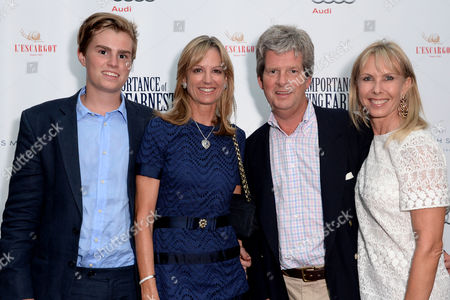 'The Importance of Being Earnest' Press Night Afterparty at L'escargot Greek Street Guy and Fiona Sangster with Their Son and Susan Sangster