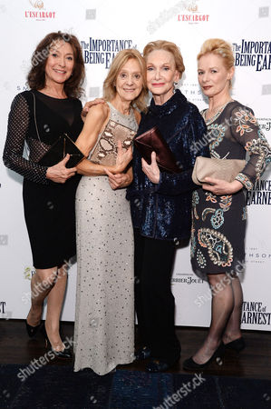 'The Importance of Being Earnest' Press Night Afterparty at L'escargot Greek Street Cherie Lunghi Rosalind Ayres Sian Phillips and Christine Kavanagh