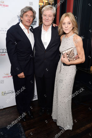 'The Importance of Being Earnest' Press Night Afterparty at L'escargot Greek Street Nigel Havers Martin Jarvis and Rosalind Ayres