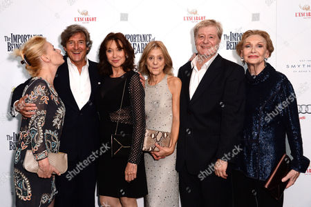 'The Importance of Being Earnest' Press Night Afterparty at L'escargot Greek Street Christine Kavanagh Nigel Havers Cherie Lunghi Rosalind Ayres Martin Jarvis and Sian Phillips
