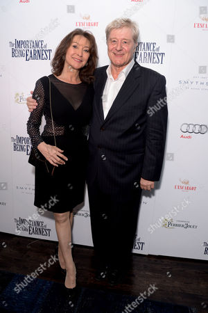 'The Importance of Being Earnest' Press Night Afterparty at L'escargot Greek Street Cherie Lunghi and Martin Jarvis