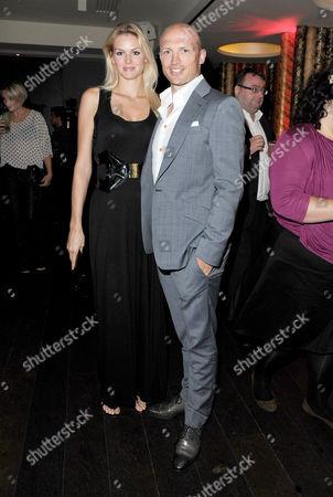 'The Inbetweeners Movie' World Premiere Afterparty at Aqua Argyll Street Matt Dawson with His Girlfriend Carolin Hauskeller