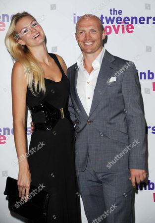 'The Inbetweeners Movie' World Premiere at the Vue Westend Matt Dawson with His Girlfriend Carolin Hauskeller