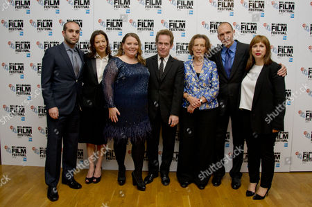 'The Invisible Woman' European Premiere at the Odeon Westend During the Bfi London Film Festival 2013 Ilan Eshkeri Gabrielle Tana Joanna Scanlan Tom Hollander Claire Tomalin Ralph Fiennes and Abi Morgan