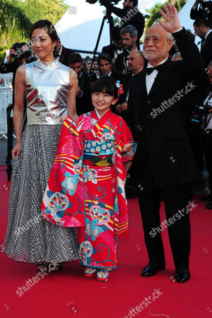 Stock Picture of 'The Little Prince' Red Carpet at the Palais Des Festivals During the 68th Cannes Film Festival Asaka Seto Rio Suzuki and Masahiko Tsugawa