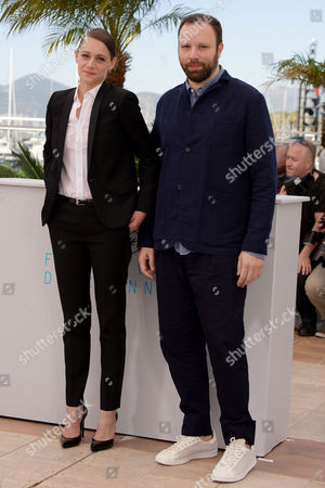 'The Lobster' Photocall at the Palais Des Festivals During the 68th Cannes Film Festival Angeliki Papoulia and Director Yorgos Lanthimos