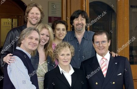 Photocall at the Royal Albert Hall London to Launch the Night of 1000 Voices with is Being Held On Sunday 4/5/2003 Featuring the Music of the Musicals Sir Trevor Nunn Directed Sir Trevor Nunn with Roger Moore & Glen Close Alan Campbell Lauren Kennedy & Judy Kuhn Also the Shows Director Hugh Wooldridge
