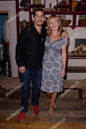Stock Picture of 'The Nightmares of Carlos Fuentes' Press Night at Lift Dalston Nabil Elouahabi and Caroline Langrishe