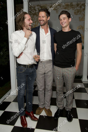Stock Picture of the Alchemic Order Present 'The Picture of Dorian Gray' Staged in A House in Greenwich Samuel Orange (director and Lord Henry Wotton) with His Brother Jason Orange and River Hawkins (dorian Gray)