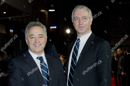 'The Railway Man' Uk Premiere at the Odeon Westend Frank Cottrell Boyce (writer) and Andy Paterson (producer)