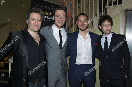 'The West End Men in Concert' Press Night After Party at Adam Street Club Glenn Carter David Thaxton Matt Willis and Lee Mead