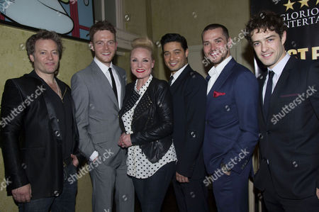 'The West End Men in Concert' Press Night After Party at Adam Street Club Glenn Carter David Thaxton Kerry Ellis Stephen Rahman-hughes Matt Willis and Lee Mead