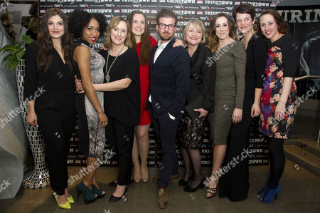 'Urinetown' Press Night at St James Theatre Victoria Katie Bernstein Karis Jack Jenna Russell Rosanna Hyland Julie Jupp Jo Napthine with Director Jamie Lloyd