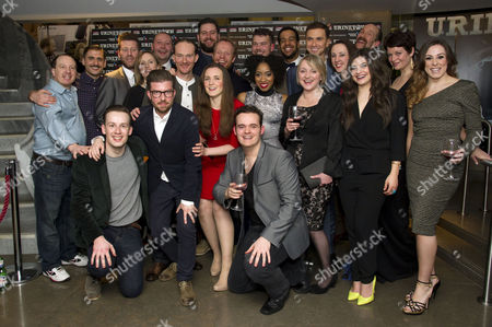 'Urinetown' Press Night at St James Theatre Victoria Cast - Katie Bernstein Karis Jack Jenna Russell Rosanna Hyland Julie Jupp Jo Napthine with Director Jamie Lloyd Chris Bennett Alasdair Buchan Marc Elliott Cory English Richard Fleeshman Aaron Lee Lambert Mark Meadows Simon Paisley Day Adam Pearce Matthew Seadon-young Jonathan Slinger